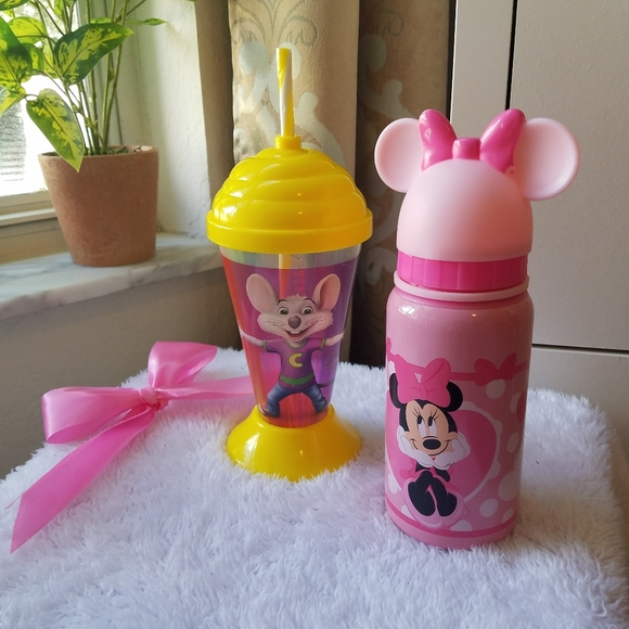 disney minnie mouse baby bottle pink